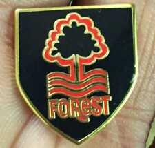 NOTTINGHAM FOREST BLACK CREST SHIELD ENAMEL PIN BADGE