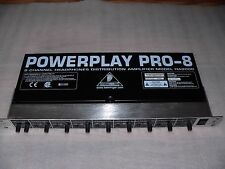 Used Behringer Powerplay Pro-8 HA8000 8-Channel Headphones distribution Amp