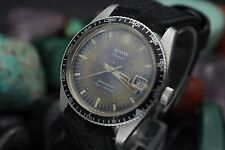 Vintage AUSTIN Premier Datemaster Super Automatic Tropical Dial Steel Dive Watch