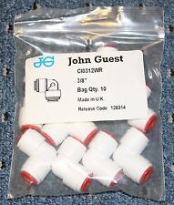 "10 Pack John Guest Union Elbow 3/8"" CI0312WR Push To Fit"