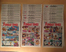 UK COMICS 1989 Collection of THE FUNDAY TIMES LOT of 34 Total  Sunday Paper Supp