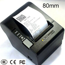 Desktop USB RS232 LAN 80mm Thermal POS Printer Bill Receipt Printer with Cutter