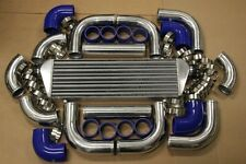 BLUE FIMC INTERCOOLER+TURBO PIPING KIT COUPLER CLAMPS MUSTANG SVT CORBA 5.0L GT