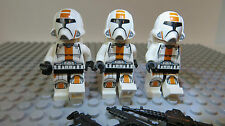 REAL LEGO,STAR WARS FIGURES, 3 REPUBLIC TROOPERS, OLD REPUBLIC WARRIORS   Lot 92