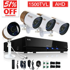 ELEC® Home Video Security Cameras System 8CH 1080N AHD DVR 2000TVL 720P IR CCTV