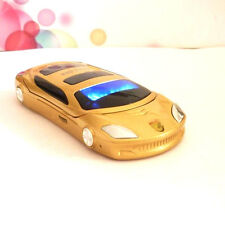 Unlocked mini F15 Gold sports car model mobile phone Dual Band Dual SIM phone