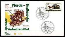 Pferde-Eisenbahn(1865) in Berlin. FDC. W.Berlin 1971