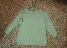 "Women's Beautiful ""H&M"" Brand Green 3/4 Sleeve Cotton Fashion Sweater Top-size S"