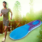 Unisex Silicone Gel Orthotic Arch Support Massaging Sport Shoe Insole Run Pad YB