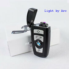 Electric Arc Flameless USB Rechargeable Windproof Cigarette Lighter BMW Car Key