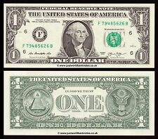 United States USA 1 Dollar 2013 P-New Series F (Atlanta)  UNC