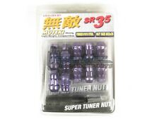 Muteki SR35 Extended Closed Ended Wheel Tuner Lug Nuts Chrome Purple 12x1.25mm