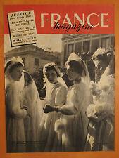 FRANCE magazine 145 du 21/5/1950-Justice pour l'école libre-4 basiliques Jubilé