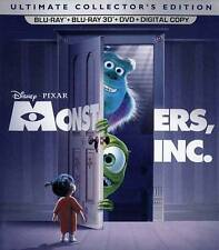 Disney Monsters Inc. NEW 3D + 2D Blu-ray + DVD disc/case/cover-no digital/slip