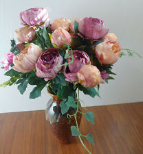 Two Bunches Artificial Peony Silk Flower