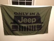 NEW LARGE 3'x5' ONLY IN A JEEP FLAG MAN CAVE FREE SHIPPING