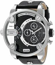 Diesel Men's DZ7256 Dual Zone Chronograph Black Dial Black Leather Watch