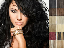 """100% Clip In Real Human Hair Extensions Black Brown Blonde Highlight 14""""-30"""""""