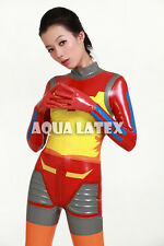 Japanese Style Sexy Colorful Space Latex Suit Fashion Cosplay Rubber Bodysuit