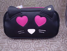 LUV BETSEY JOHNSON ~ Black Cat Clutch Cosmetic Bag Case ~ NEW