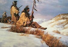 """Howard Terpning Limited Ed 577/750 Print """"Signals In The Wind""""  27 3/4""""X19"""""""
