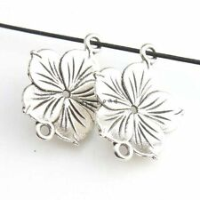 30x Hot Sale Charms Jewelry Antique Silver Flower Alloy Connector Pendant Lots L