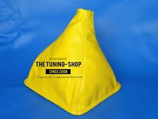 FOR LOTUS ELAN M100 89-95 GEAR STICK GAITER YELLOW GENUINE LEATHER
