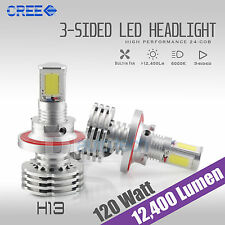 H13 120W 12400LM CREE LED Headlight Kit High/Low Beam Bulbs White 6K High Power