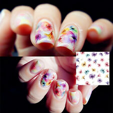 Nail Art Water Sticker Transfer Decals Chinese Ink Flower Design For DIY Decor