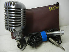SHURE 55SW DYNAMIC UNIDYNE MICROPHONE ELVIS MIC WITH CABLE AND POUCH LQQK NICE !