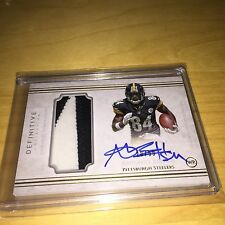2015 Definitive Antonio Brown 2-color Patch On Card Auto #20/99