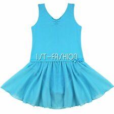 Girls Kids Fancy Gymnastics Ballet Dress Tutu Leotard Dance Outfit Skirt Costume