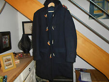 SUPERBE DUFFLE COAT BLEU MARINE NAVY MADE IN UK T 48 FRANCAISE SOIT XL A 89€ ACH