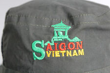 Saigon Vietnam Dark Green Boonie Hat Fish Camp Hunt Unisex Hat Small