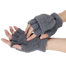 Girls Women Ladies Hand Wrist Warmer Winter Fingerless Gloves Mitten Cute