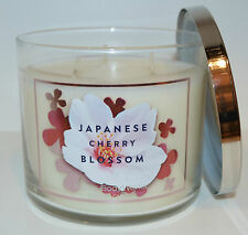 NEW BATH & BODY WORKS JAPANESE CHERRY BLOSSOM SCENTED CANDLE 3 WICK 14.5OZ LARGE
