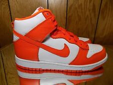 nike dunk high syracuse white orange rare sb lux retro qs hi mens rare ds 10.5