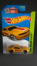2013 Hot Wheels Chevy Camaro Special Edition Yellow Die-cast 2015 HW Workshop