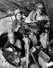 WWII B&W Photo US Military Police 7th AAF Ryukyus Islands  WW2  / 1250  NEW