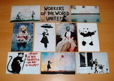SET OF TEN QUALITY BANKSY POSTCARD SIZE  PRINTS.
