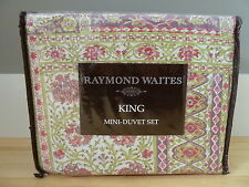 RAYMOND WAITES KING DUVET PILLOW SHAMS FLORAL KEABLOSK RED GREEN 3PIECE MINI SET