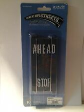 "K-Line 21573 5"" Super Streets Stop Ahead Str. Track 1 pkg. of 2 pcs. New in pkg."