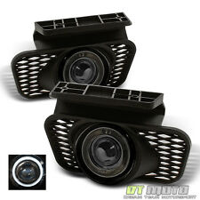 Smoke 2003-2006 Chevy Silverado Avalanche Halo Projector Bumper Fog Lights Lamps