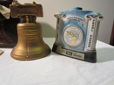 Liberty Bell Decanter and Jim Beam Pearl Harbor 30th Anniversary Decanter