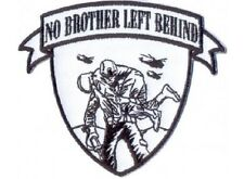 LOT OF 2 - NO BROTHER LEFT BEHIND MILITARY VETERAN EMBROIDERED PATCH