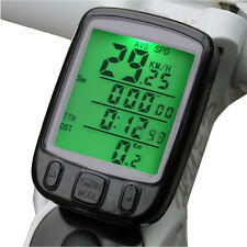 Waterproof Wired Bike Bicycle Computer Odometer Speedometer LCD Backlight