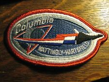 NASA Space Shuttle Columbia Mattingly Hartsfield 1982 USA Rocket Jacket Patch