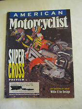February 1997 American Motorcyclist Magazine, Super Cross Preview  (BD-26)