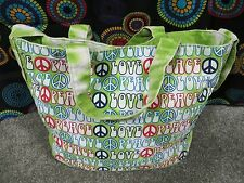No Boundaries XL Tote/Shoulder Bag w/Multi-Color Design/Shoulder Strap/Handstrap