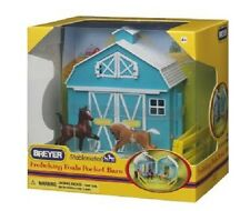Breyer Stablemates 5932 Frolicking Foals Pocket Barn Toy 1:32 Free Tracked Post